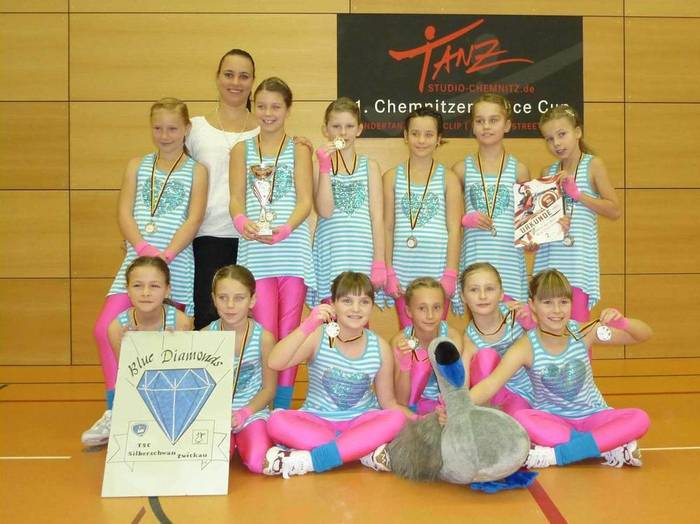 """Blue Diamonds"" beim 1. Chemnitzer Dance Cup"